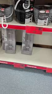3 tier hanging bathroom caddy and 3 tier tension caddy clearance price - £1.49 instore @ B&M