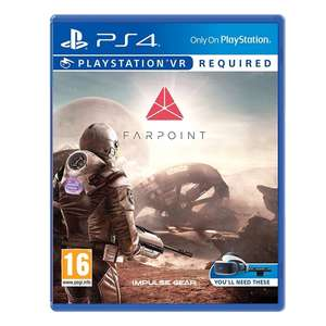 Farpoint Game PS4 (PSVR Required) for £14.99 w/ 750 player points @ 365games.co.uk