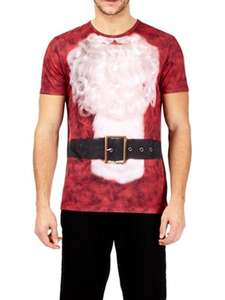 Burton - Red headless Santa Claus Christmas t-shirt - Size XS left) + Free Delivery with code SH4Z at Debenhams for £3.20