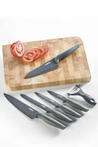 Tower 6 piece knife set + free chopping block! £6.98 (new customers or +£4.99 delivery) @ studio