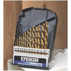 Erbauer HSS Drill Bit Set 13 Pieces for £3.99 @ Screwfix (Free C&C)