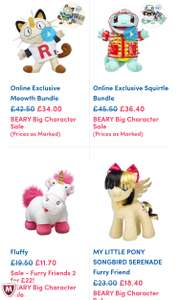 Up to 50 % off Build a bear sale. Reductions on Pokemon, Avengers, My little Pony & More ( + £3.99 Del)