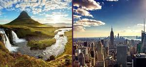 2 City trip (New York & Reykjavik) £240.76 (e.g 7th to 12th May) via Holiday Pirates