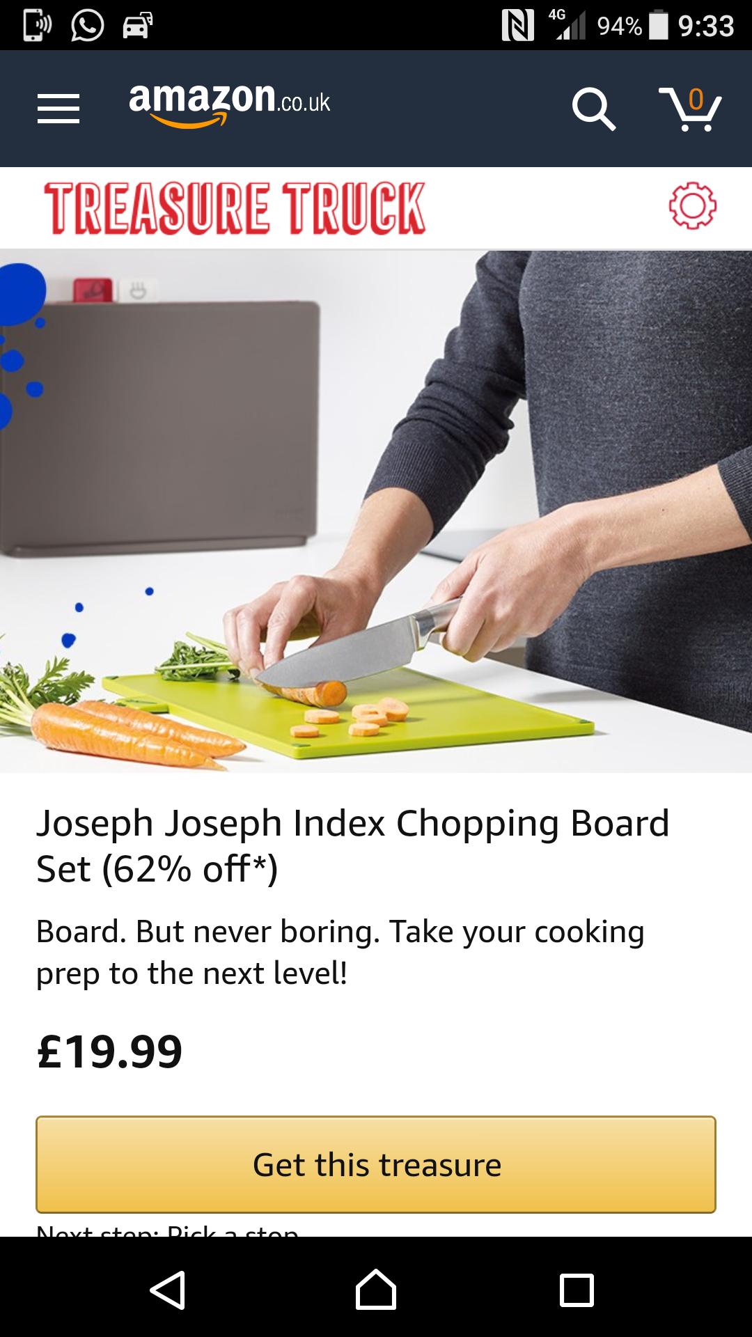 Set of Joseph Joseph chopping boards £19.99 via Amazon treasure truck