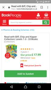 Biff, chip and kipper collection: levels 1-3 33 books £21.94 delivered @ The book people