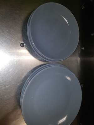 Grey dinner and side plates 31p instore at Asda