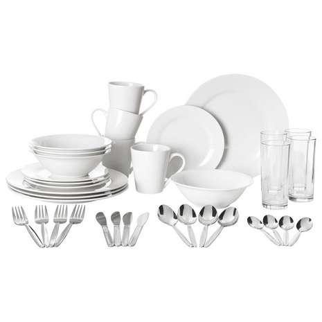 Essentials White 36 Piece Starter Dinner Set - £20 @ Dunelm