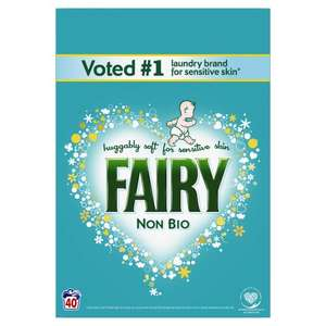 Fairy Non Bio. Washing Powder 40 Washes 2.6Kg - £4.50 @ Tesco