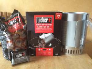 Weber chimney starter pack with 2kg coals and 6 lighter cubes £7 @ B&Q Paisley