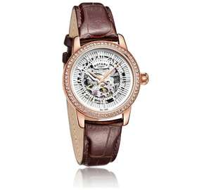 Rotary ladies skeleton watch + lifetime guarantee  £68.99 was £149.99 @ Argos