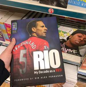 Rio Ferdinand 'My Decade as a RED' book @ Poundland - £1