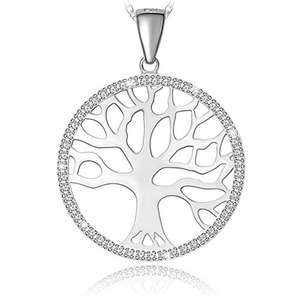 Sterling Silver The Tree of Life Pendant £12.99 Prime / £16.98 Non Prime (Crystal Butterfly Necklace £9.99) @ Amazon (Sold by longtop / FBA)