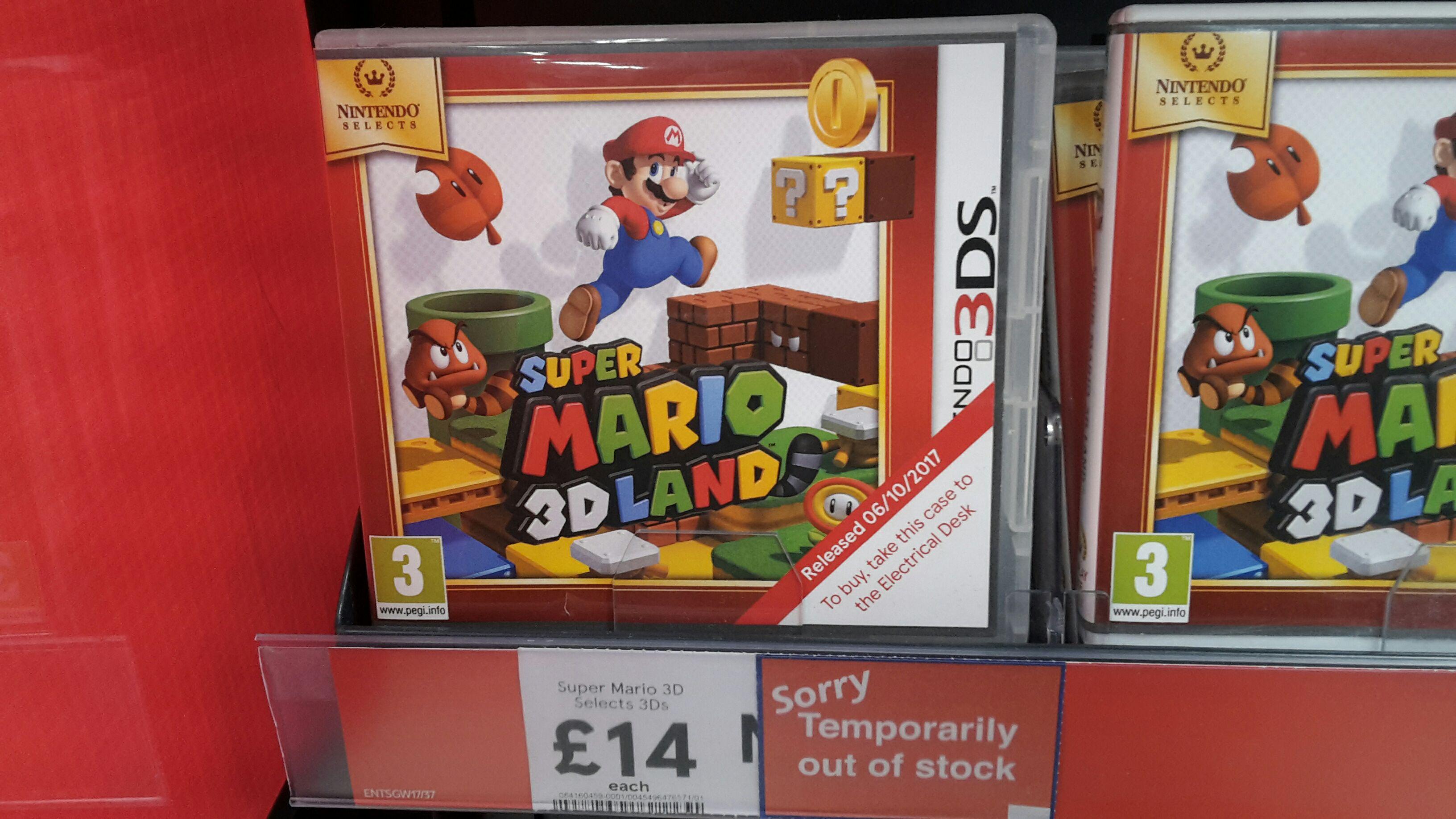 Super Mario Land 3DS £14 @ Tesco - Silverburn