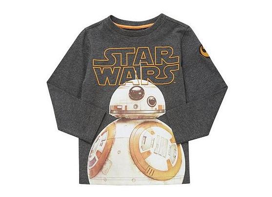 Star Wars BB-8 Long Sleeve T-Shirt for £3 @ Tesco F&F Clothing (Free C&C)