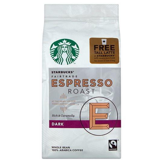Starbucks coffee beans with free drinks £2.75 @ Tesco