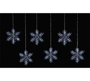 6 Snowflake Window Lights + Free click and collect at Argos for £1.99
