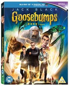 [3D/Blu-ray/UV] Goosebumps £3.39 NEW @ MusicMagpie