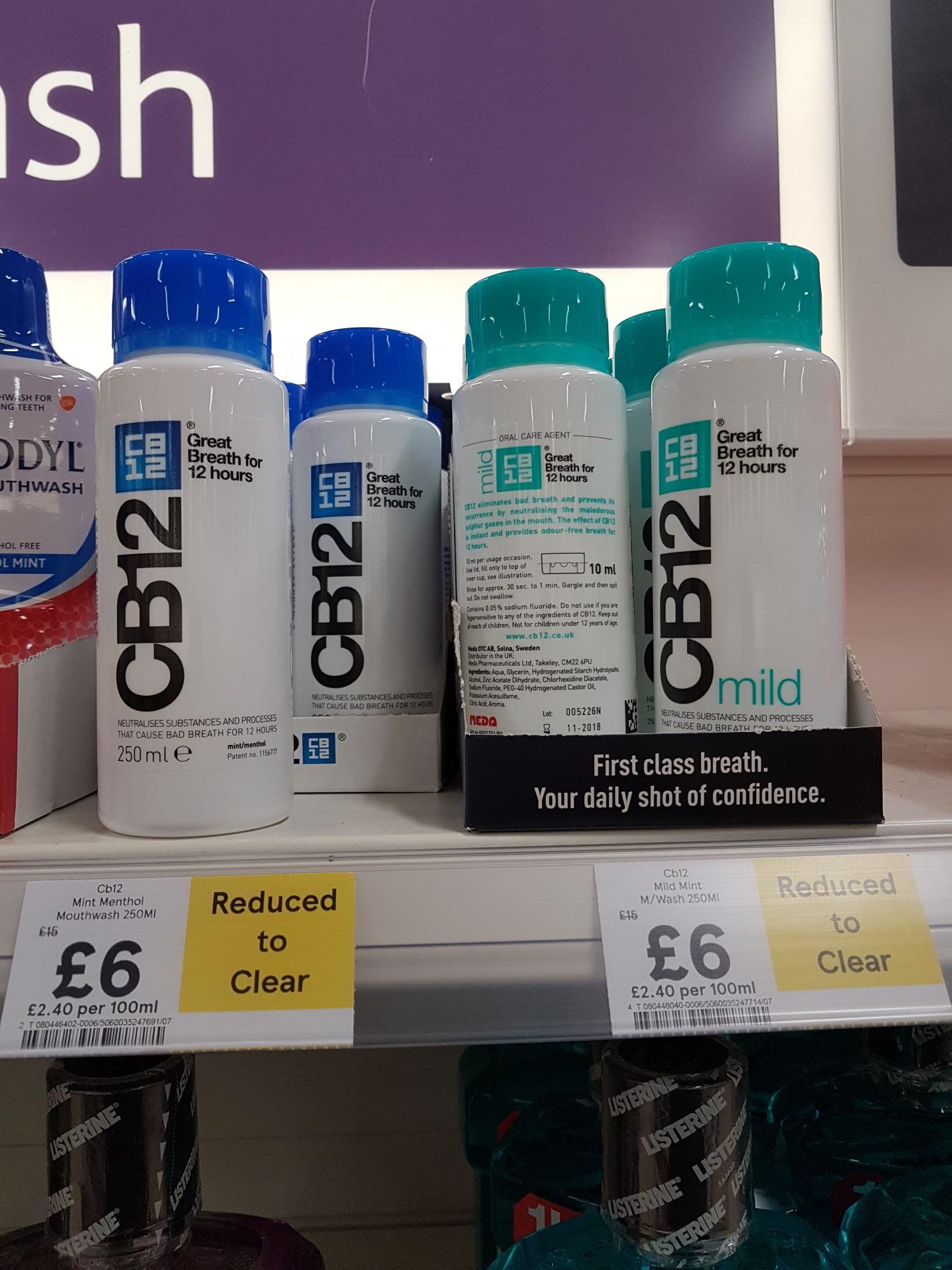CB12 Mouthwash 250ml £6 Tesco