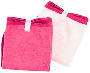 BabyToLove Baby Changing Towels (White/Pink, Pack of 2) amazon add on item minimum 20 pound spend required