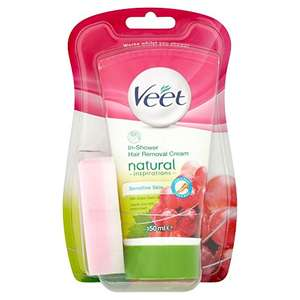 Veet Natural Inspirations In-Shower Hair Removal Cream, 150 ml £2.78 amazon add on item minimum 20 pound spend