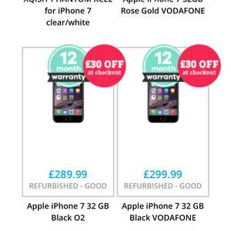 iPhone 7 Voda £269.99 (Good condition) Music Magpie