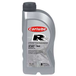 Carlube Triple R 5W-30 Fully Synthetic Motor Oil 1L £1 @ B&M
