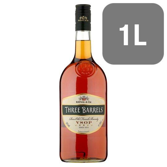 Three Barrels Brandy VSOP 1 Litre £16 @ Tesco