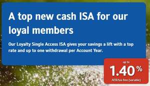 Nationwide Loyalty Single Access ISA 1.4% AER