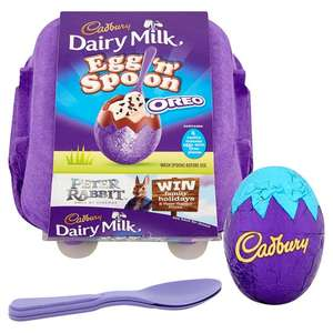 Cadbury Dairy Milk Egg And Spoon Oreo / Double Chocolate 136G £1 (From 7th March) @ Tesco