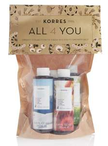 Korres All 4 You Shower Gel Collection  at M&S - Half Price £16 from £32