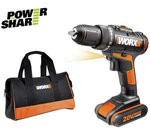 WORX 20vMAX Drill Driver with Lithium-Ion battery and carry case. Was £58.99, now on clearance (limited stock) for £35.99 (39% off) @ Argos
