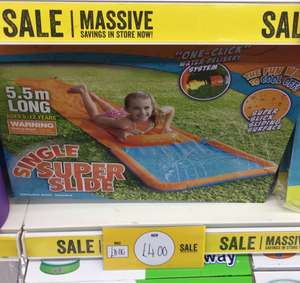 5.5 Metre Long Water slide Half Price Poundworld £4 (Rothwell)