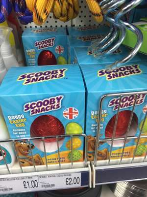 Scooby Snacks DOGGY Easter egg £2 poundworld
