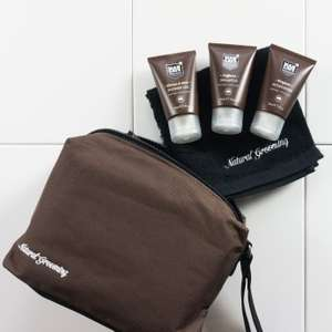 ManCave Washbag Set - Travel Toiletries + Flannel + Washbag just £3.99 delivered