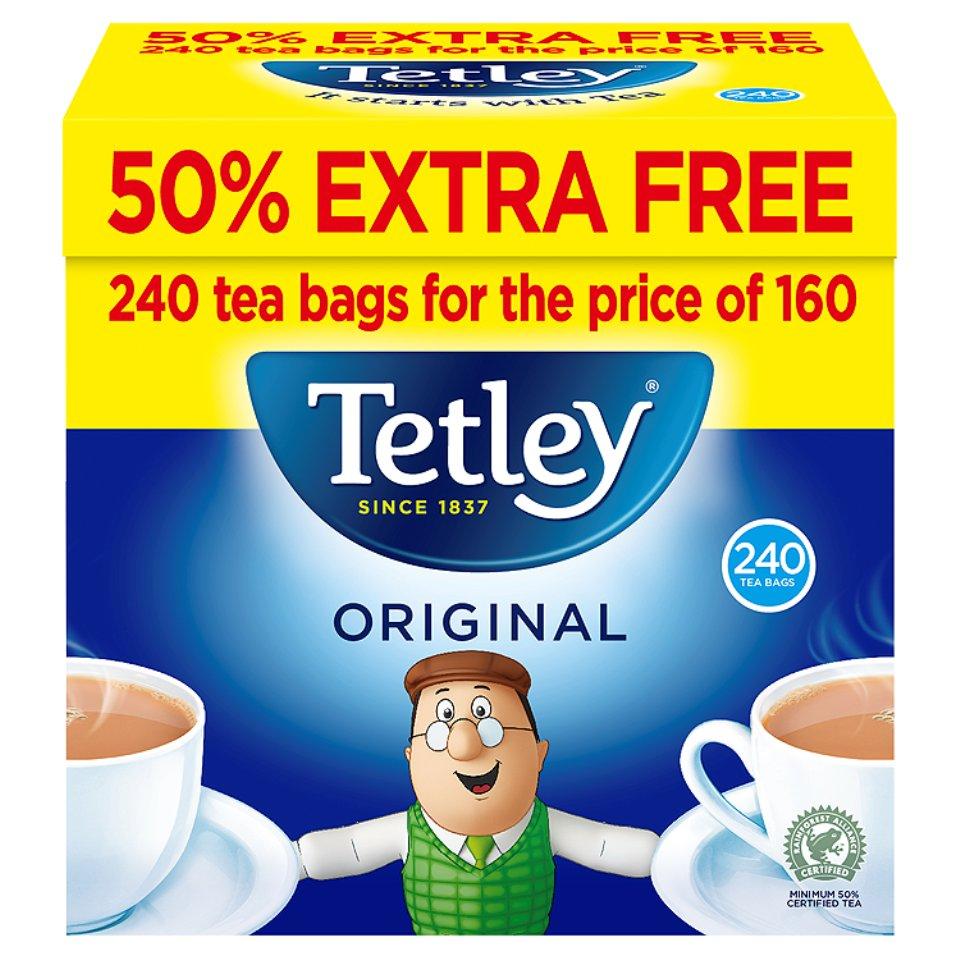 240 Tetley Original Tea Bags £2.40 @ Iceland