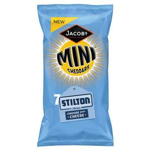 Jacob's Mini Cheddars STILTON or RED LEICESTER *7 Pack* only 50p! @ Iceland - RRP £1.79!