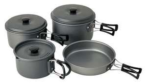 Campingaz Tough Aluminium Camping / Trekking Cookset - 8 Pce - £12.55 Free Delivery  at CPC Farnell
