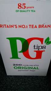 PG Tips Tea Bags x 200 @ Tesco Was £5.60 Now £3.00  Save £2.60
