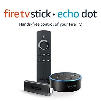 Fire TV Stick with Alexa Voice Remote + Echo Dot Black / White £58.95 Free C&C @ Tesco Direct