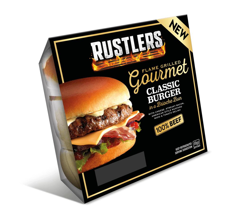 Free Rustlers Gourmet BBQ Burger