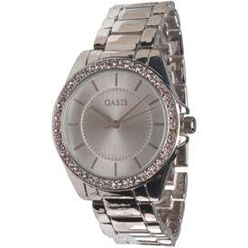 Oasis Womens Stone Set Watch Silver £14.99 + £4.49 delivery @ M&M Direct