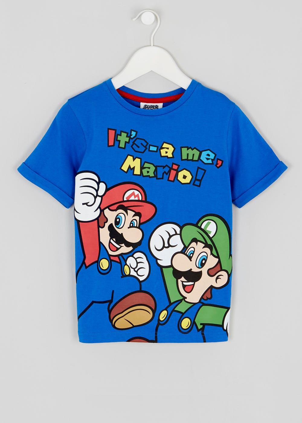Kids Mario and Luigi T-Shirt (3-9yrs) - £6 @ Matalan