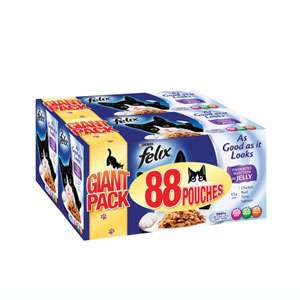 Felix As-Good-As-It-Looks Cat Food.  88 size pack at Pets At Home for £20. (23p ea)