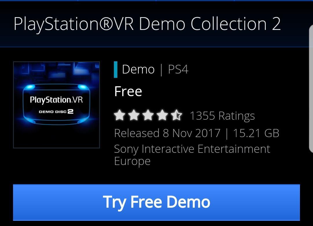 "Free PSVR ""Demo Disk 2"" @ PSN"