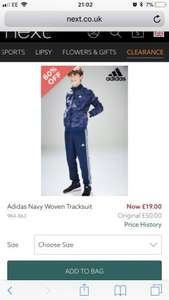 Boys Adidas Tracksuit size 13-15 years reduced to £19 at next