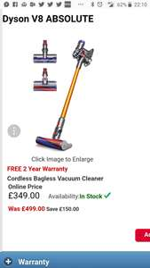 Dyson V8 Absolute - £349 @ RGB Direct