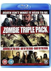 Zombie Triple Pack - Survival Of The Dead/Day of The Dead (Remake)/Diary of The Dead (Blu-Ray) £3.99 @ Base.com
