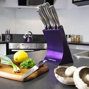Morphy Richards Accents Knife Block, 5 Piece - Purple - £23.99 (including delivery) @ Universal Savings @  Amazon