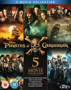 Pirates of the Caribbean 1-5 Blu Ray Box Set £14.39 with code @ Zavvi