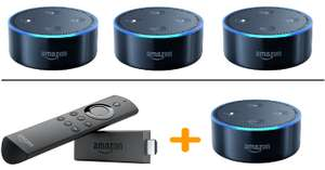 3 x Amazon Echo Dot Black / White £99.97 (£33.32 each) - Free C&C @ Argos eBay // Amazon Fire TV stick with Alexa remote + Echo Dot £59.94 @ Argos